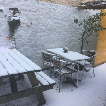 13B Courtyard and snow