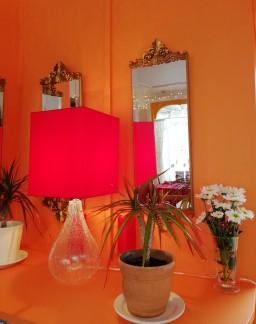 the orange corner